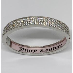 Juicy Couture Pave Silver Hinged Bangle